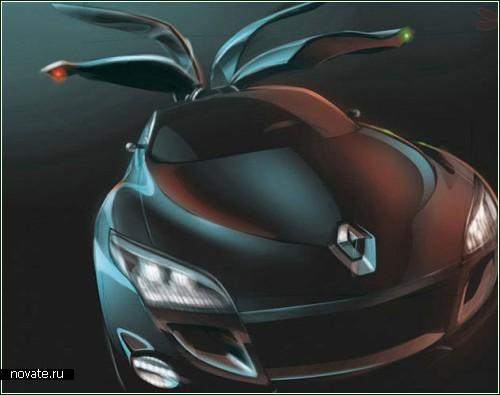 Renault Megane Coupe - четырехколесная концептуальная *стрекоза*