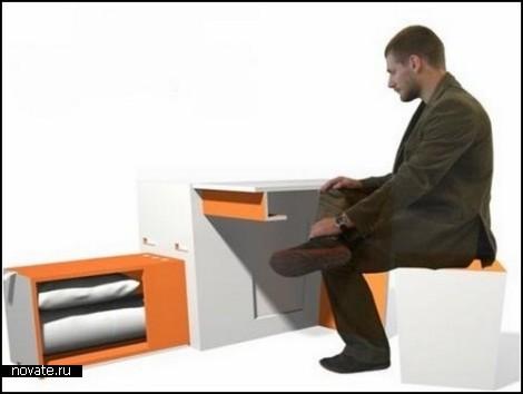 *Комната из ларца*. Проект компактной мебели от компании Isis