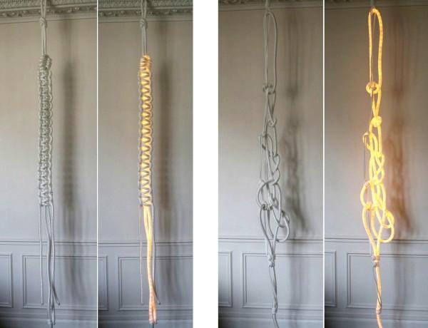 Ropes: светящиеся веревки и канаты в качестве декоративных светильников