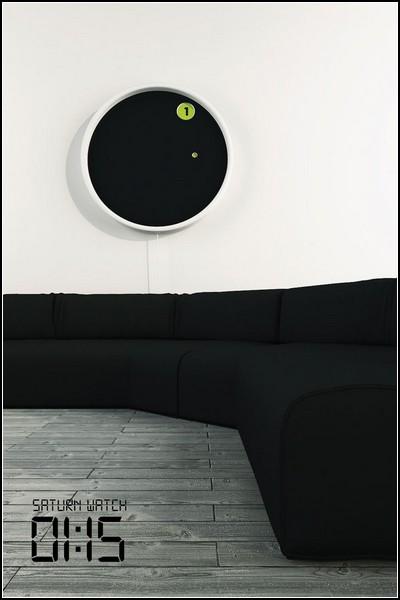 The Saturn Clock. Стильные настенные часы, вдохновленные космосом