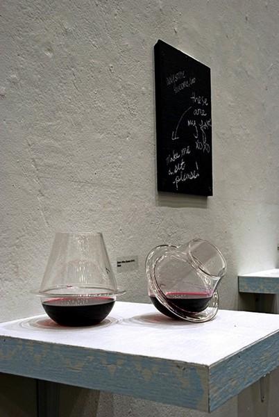 Большие бокалы или маленькие стеклянные вазы, проект Saturn Wine Glasses