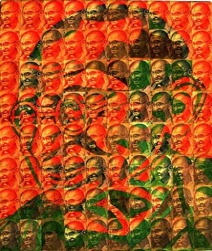 Портрет Индиры Ганди