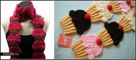Идеей для создания шарфа может послужить что угодно: и.