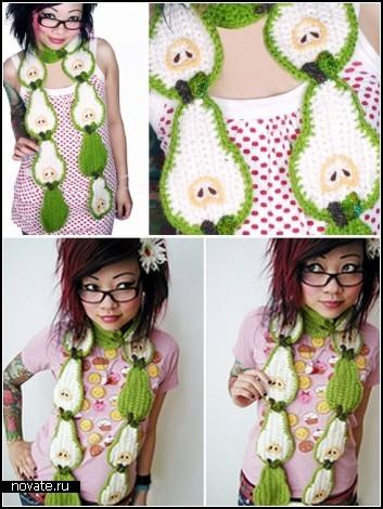 Шарфы бывают не только вязанными и шифоновами :) мода на шарфы есть и она...