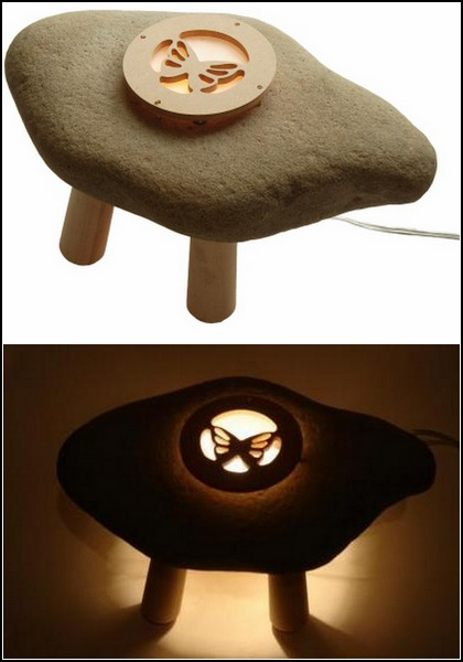 Японские светильники из камня и дерева. Творчество студии Shibaya