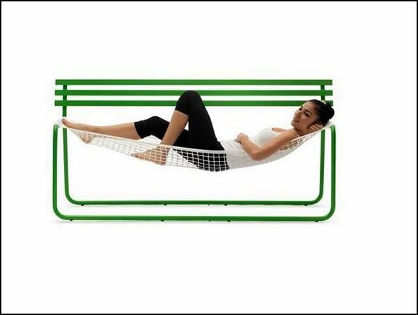Siesta bench, скамья-гамак от Эмануэле Маджини (Emanuele Magini)