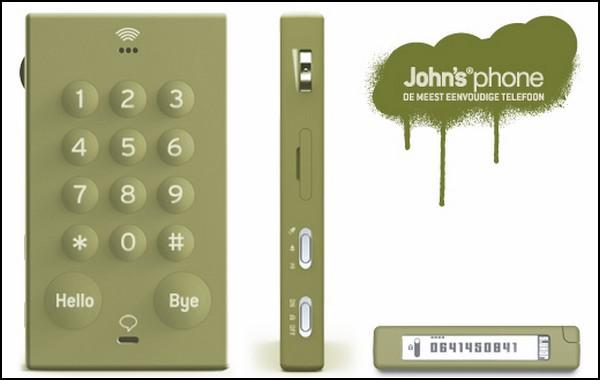 Простой и стильный мобильник John's Phone