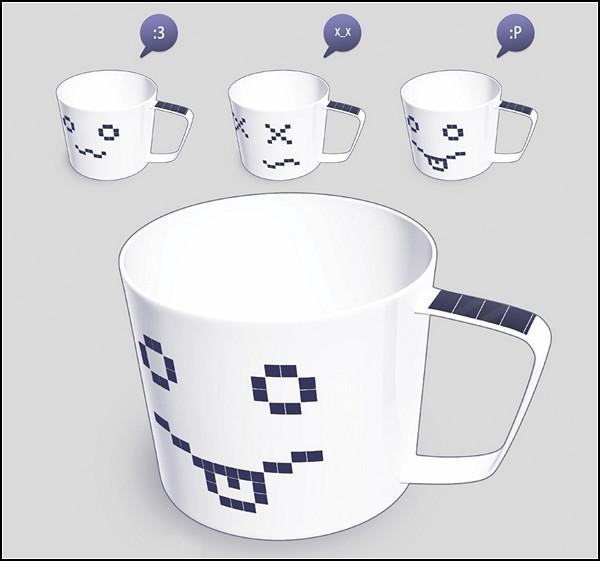Концептуальная высокотехнологичная *чашка-улыбашка* Smile Cup