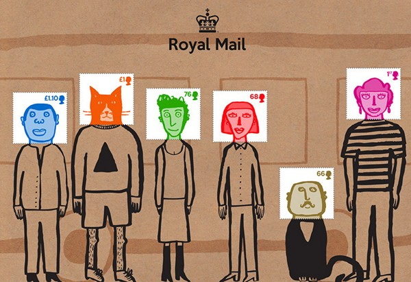 Серия марок Social mail stamps от Гэри Ханта
