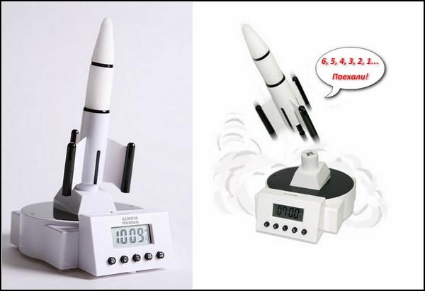 Будильник-ракета Rocket Launcher Alarm Clock