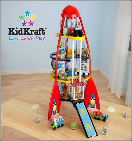 Полка-ракета для детских книг и игрушек