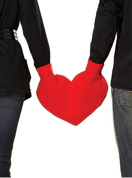 Варежка для влюбленных в стиле Дня Святого  Валентина