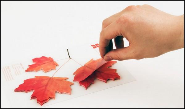 Стикеры-листья с дерева