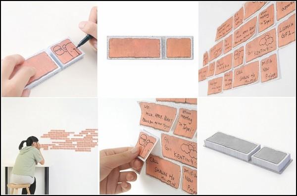Стикеры-кирпичи для строительства стены