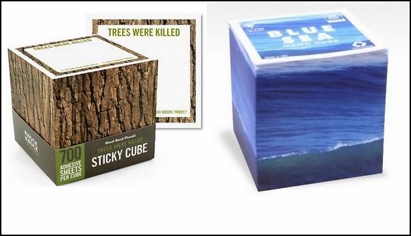 Стикеры в виде древесного ствола и морской воды