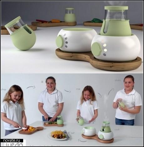 Концептуальный девайс Stir Fry Kids для маленьких поварят