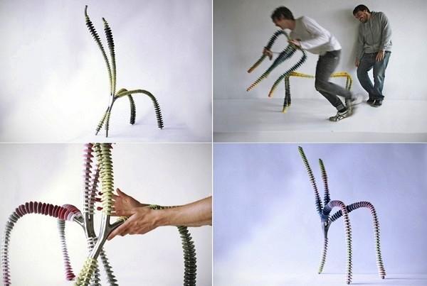One by One, серия странных дизайнерских стульев от Алехандро Церона