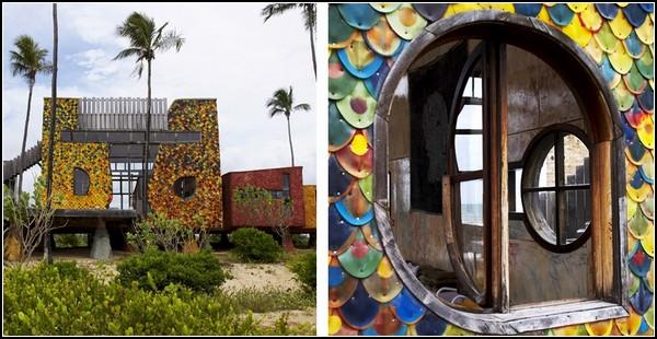 Обзор зданий, выстроенных из необычных материалов