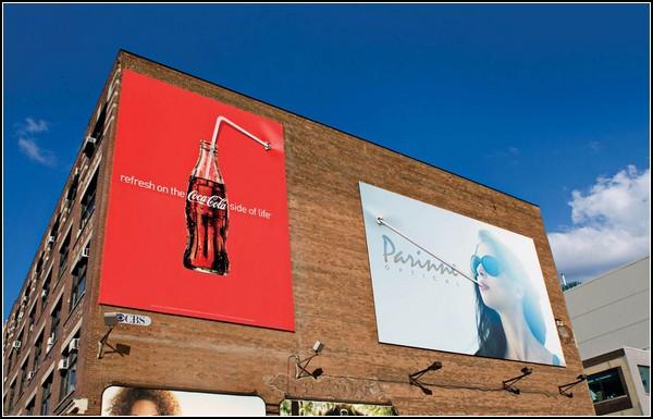 Трубочки для напитков в рекламе Coca-Cola