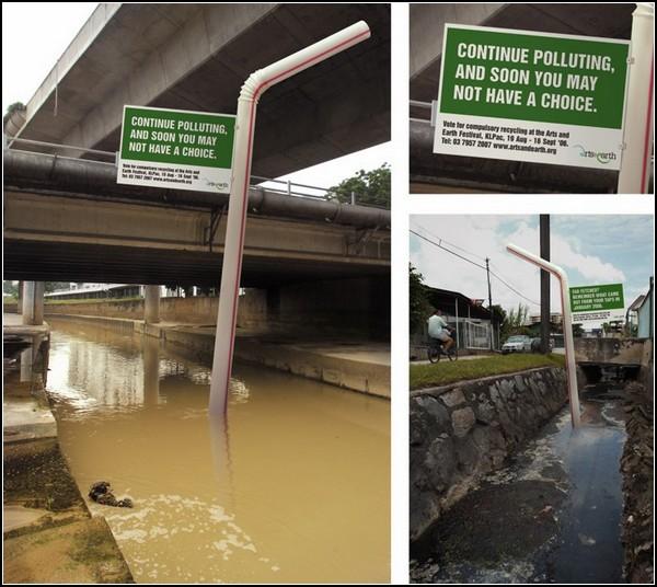 Что мы будем пить, когда испортим всю воду? Экологическая реклама в Куала-Лумпур