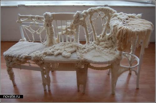 Итак, парам - вязаная мягкая мебель с комментариями.