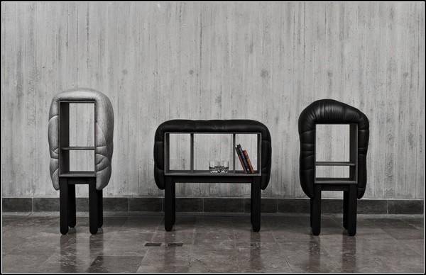 Пуфики, кресла и тумбочки из коллекции Succession