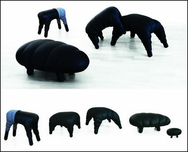 Необычная кожаная мебель Succession
