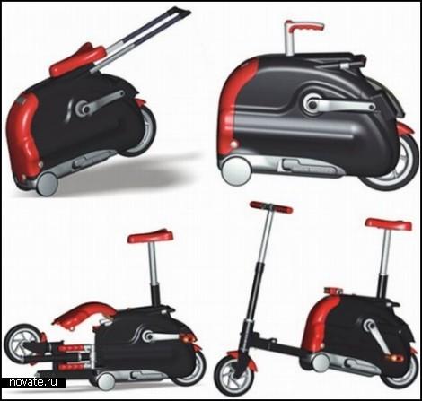 Трансформер: велосипед из сумки.  Tранспорт.