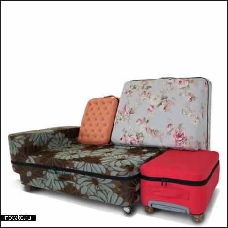 Suited Case. Мебель из чемоданов