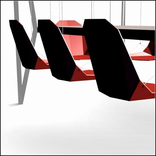Обед на раскачивающихся стульях. Swing table от студии Duffy London