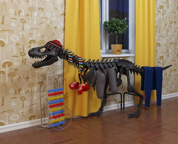Батарея-динозавр Teplosaurus от студии Артемия Лебедева