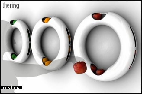 Фарфоровый *бублик* The Ring для хранения фруктов