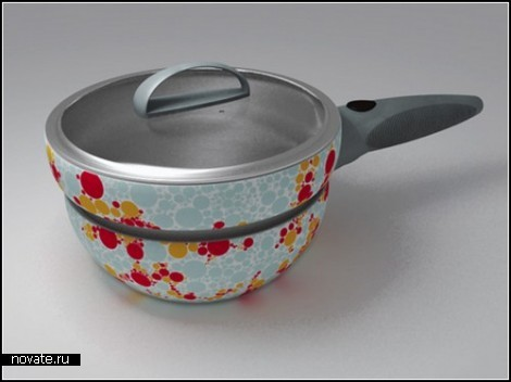 Посудина, меняющая цвет при нагреве. William Spiga и Juliana Martins
