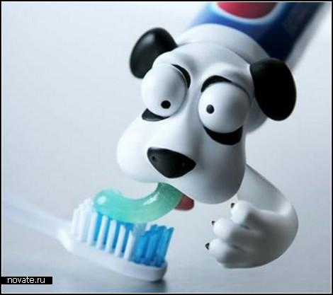 Насадки для тюбиков с зубной пастой. Spread heads по имени Oscar и Pete