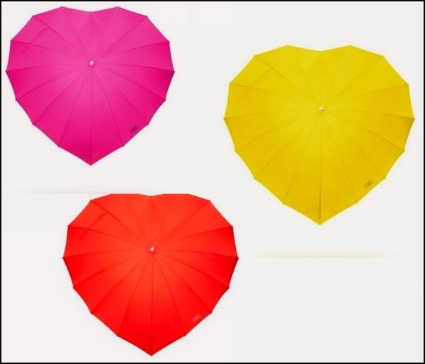 Зонт-сердце для влюбленных