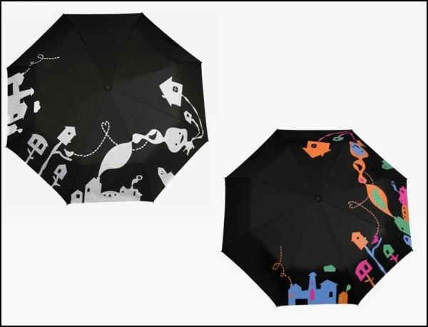Зонт, который становится цветным