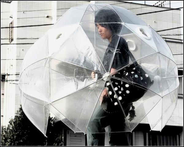 Зонт, закрывающий все тело