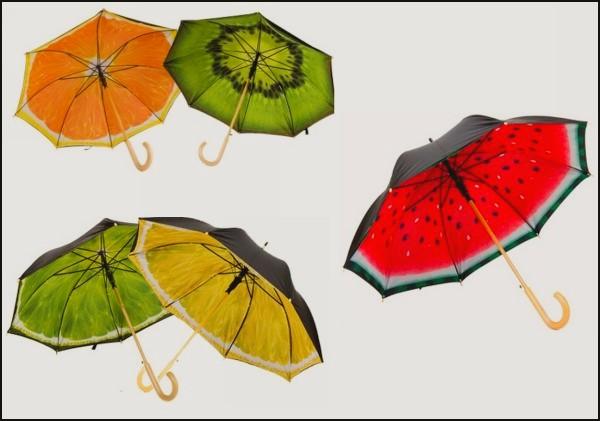 Зонты-фрукты, зонты-ягоды