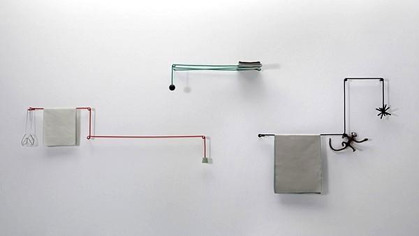 Towel Hanger, креативная вешалка-ниточка для ванной комнаты