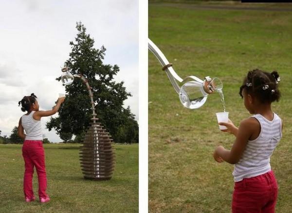 Инновационный питьевой фонтанчик Tropism Well