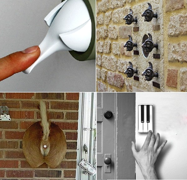 Обзор необычных дверных звонков