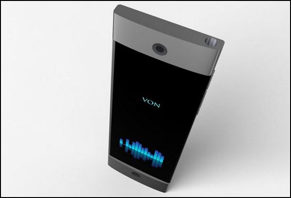 Von, концептуальный смартфон с функциями Knock, Shake и Tap