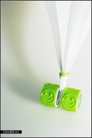Wheel Umbrella и Seel Umbrella. Зонты со смайлами