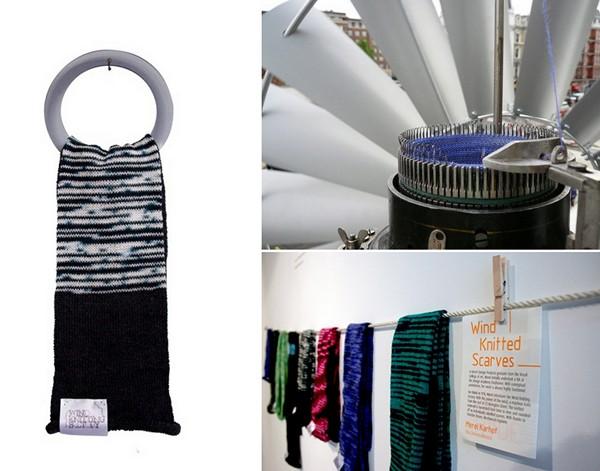 Wind Knitting Factory: ветряк, который вяжет шарфы. Инновационная машинка для вязания от  Мерел Кархов (Merel Karhof)