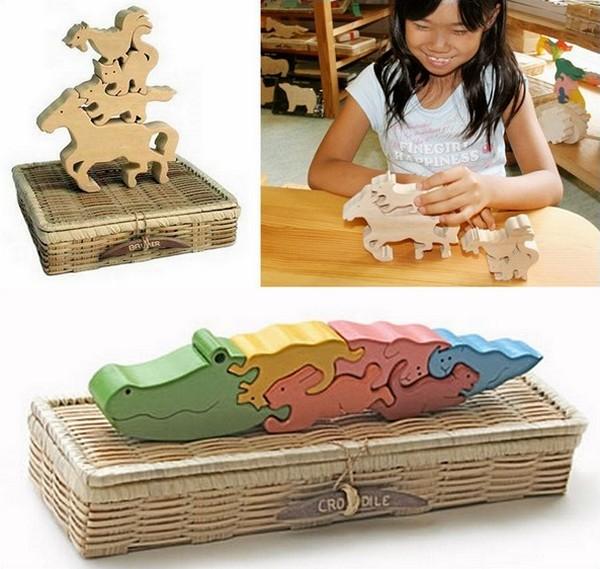 Деревянные кубики для малышей от GINGA KOBO TOYS