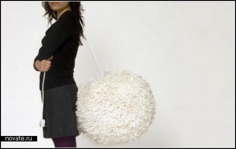 Люстра Wool light с шерстяными дредами