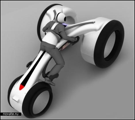 Футуристический мотоцикл Yog, который заряжает молния