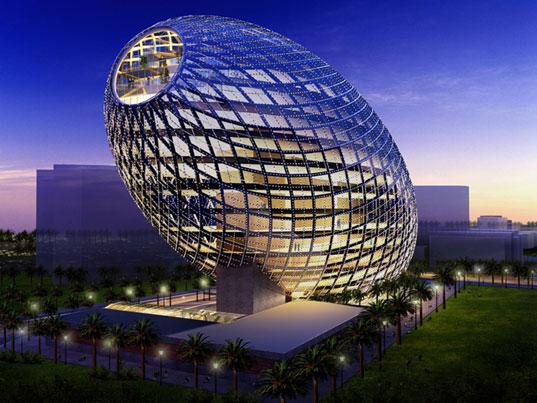 Ультрасовременное здание-яйцо Cybertecture Egg в Мумбае (Индия)