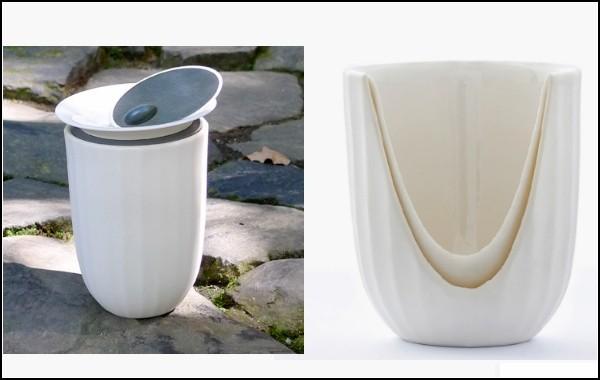 двойные стенки чашки позволяют чаю дольше оставаться горячим