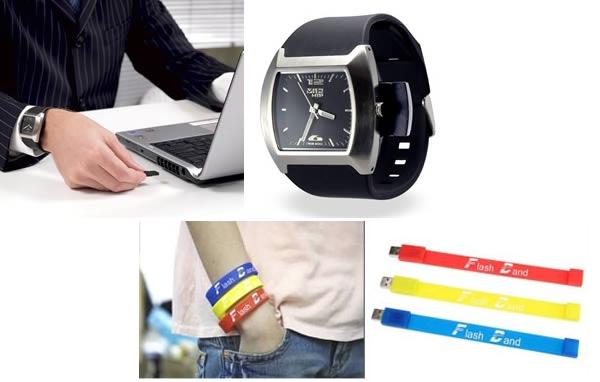 На выбор: флешка-часы для спецагента или браслет для молодых активных людей